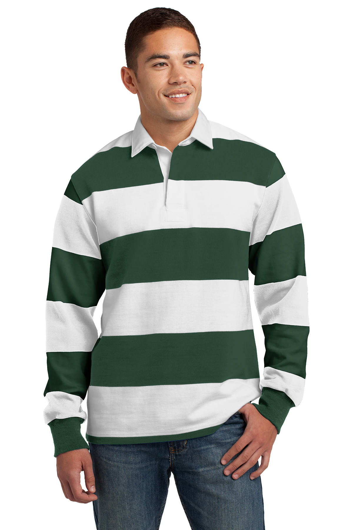 06409868cab Sport-Tek® Classic Long Sleeve Rugby Polo   Cotton   Polos/Knits ...