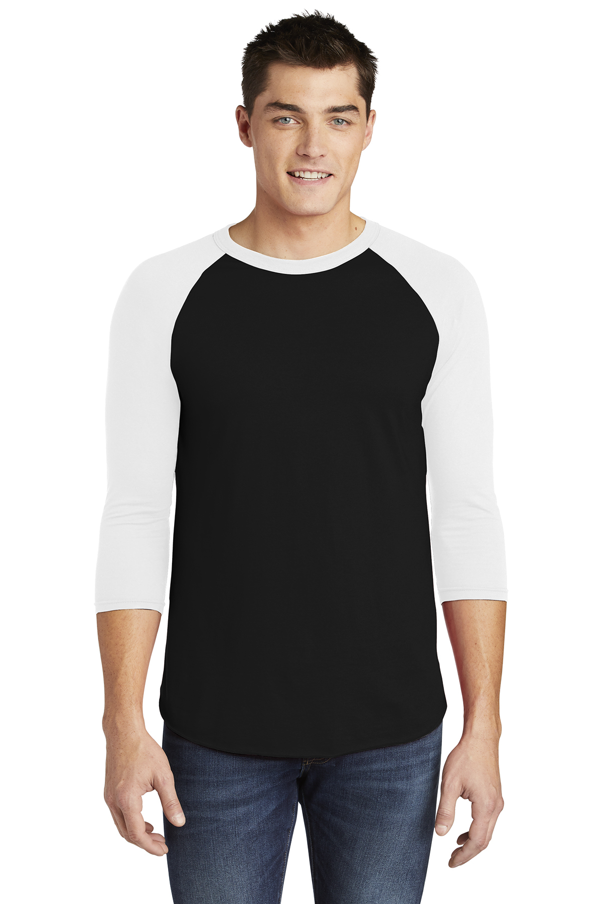 6b684d4e American Apparel ® Poly-Cotton 3/4-Sleeve Raglan T-Shirt | 50/50 ...