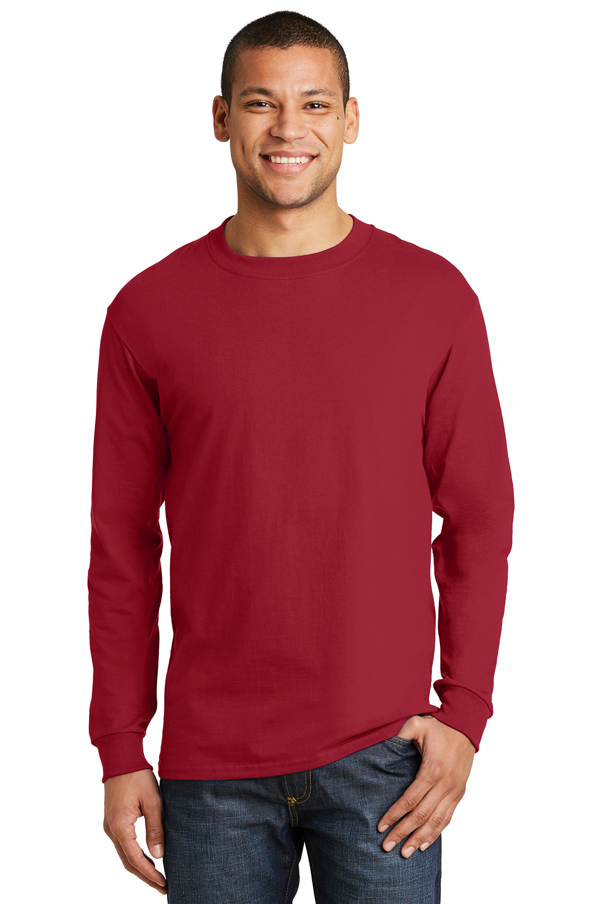 c9a95f1892d228 Hanes® Beefy-T® - 100% Cotton Long Sleeve T-Shirt | 6-6.1 100 ...