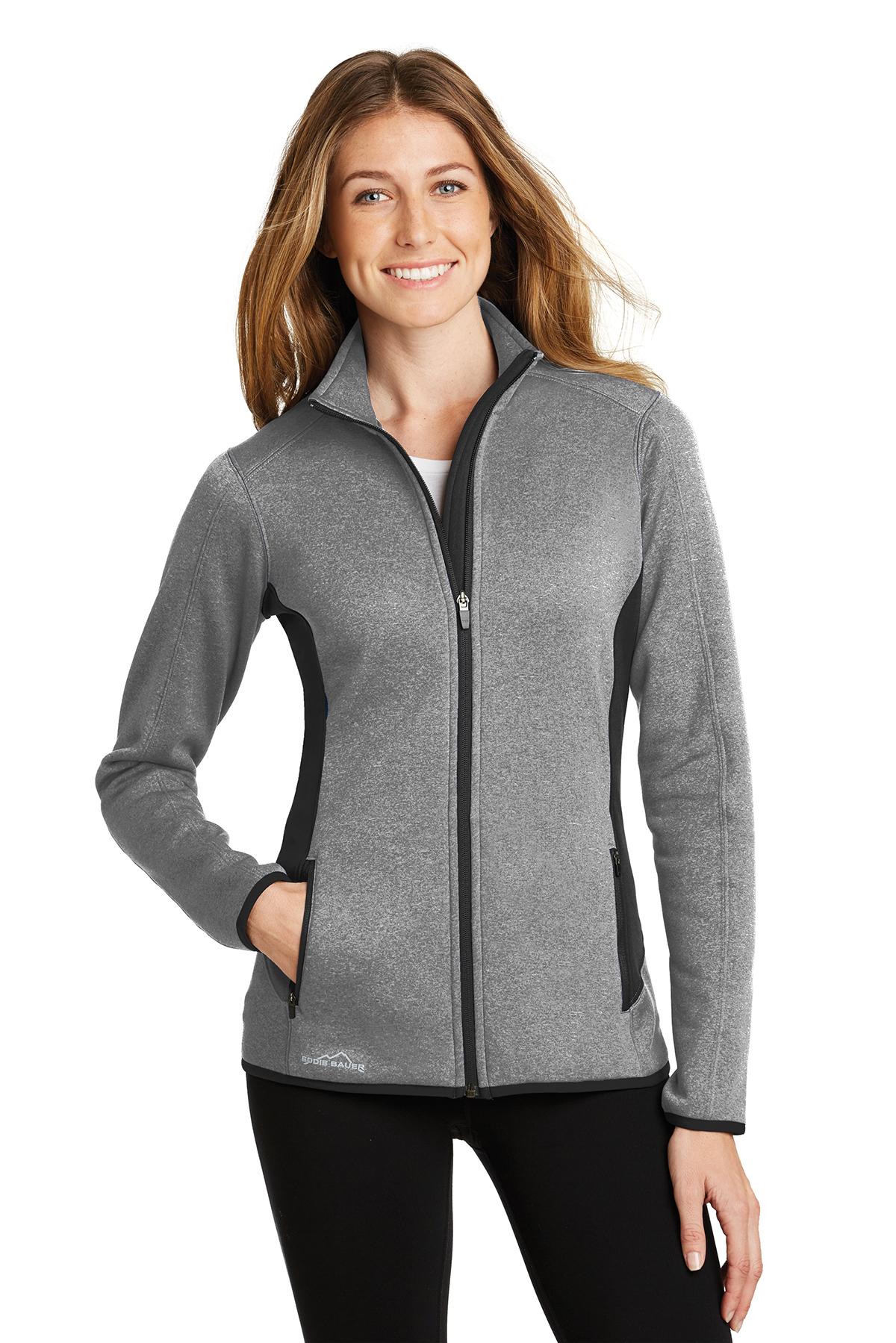 f7a6f53a03b6 Eddie Bauer® Ladies Full-Zip Heather Stretch Fleece Jacket | Ladies ...