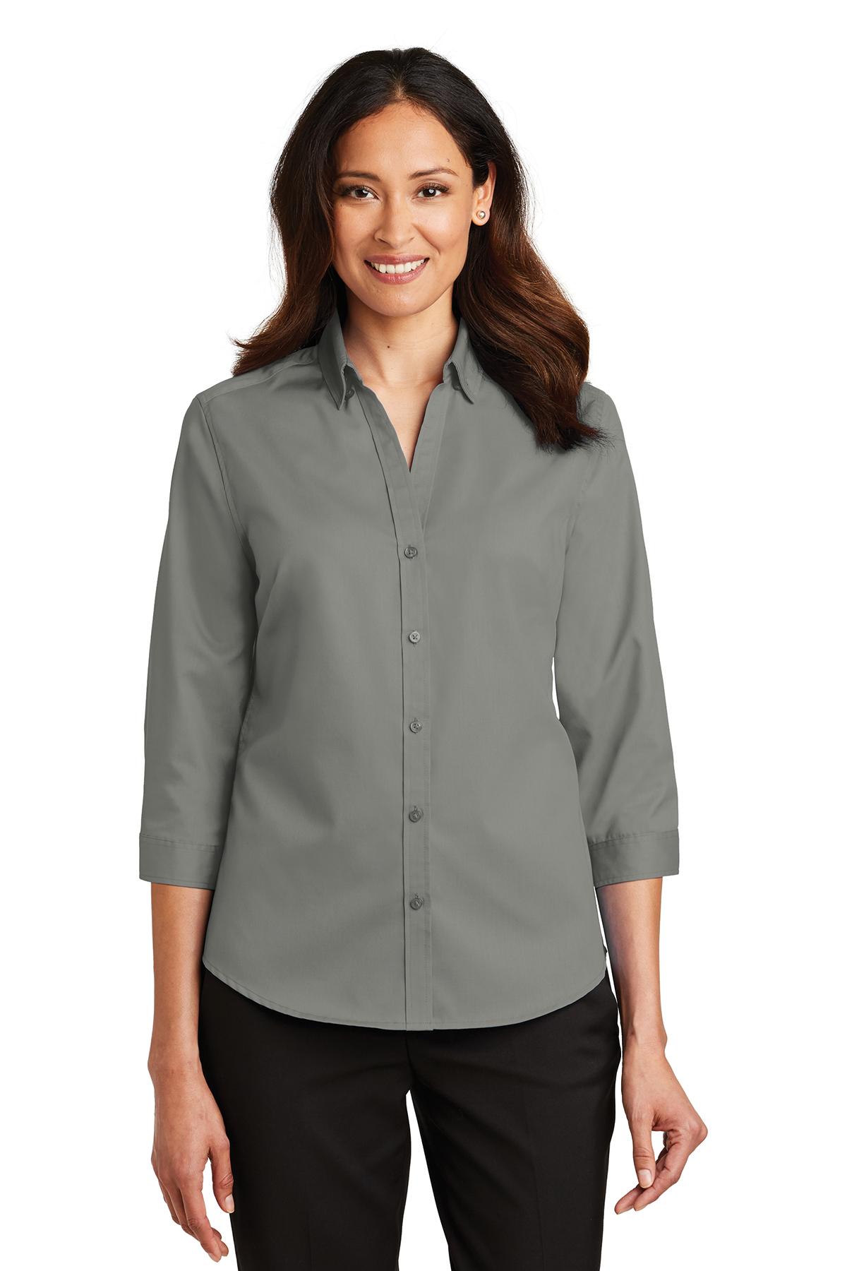 5d3ec577e Port Authority® Ladies 3/4-Sleeve SuperPro™ Twill Shirt | Cotton/Poly ...
