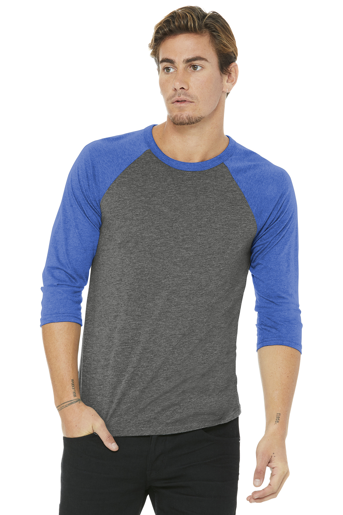 3d876a4d6 BELLA+CANVAS ® Unisex 3/4-Sleeve Baseball Tee | Adult/Men | T ...