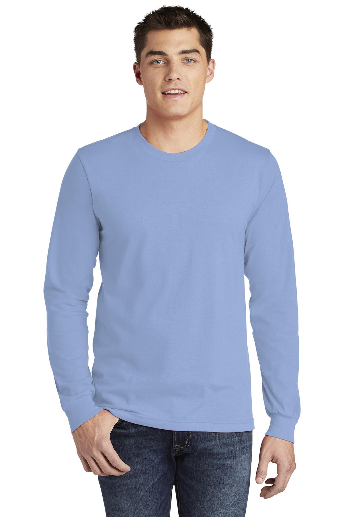 American Apparel Fine Jersey Long Sleeve T-Shirt-White