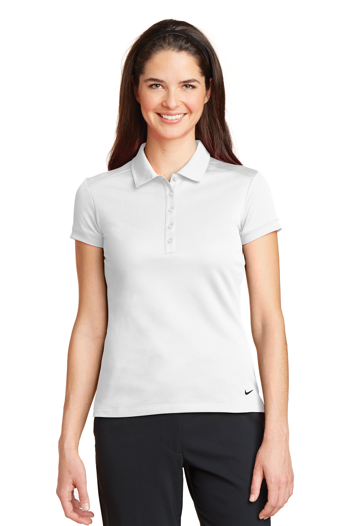 eb382a99 Nike Ladies Dri-FIT Solid Icon Pique Modern Fit Polo | Ladies/Women ...