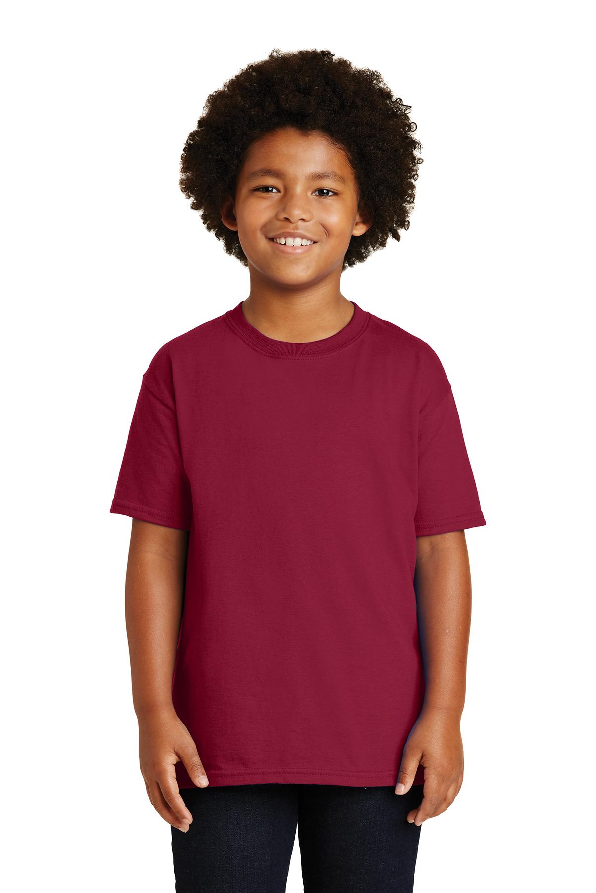 Gildan Youth Ultra Cotton 100 T Shirt 6 61 Cardinal Girl Navy Xl Shirts Sanmar