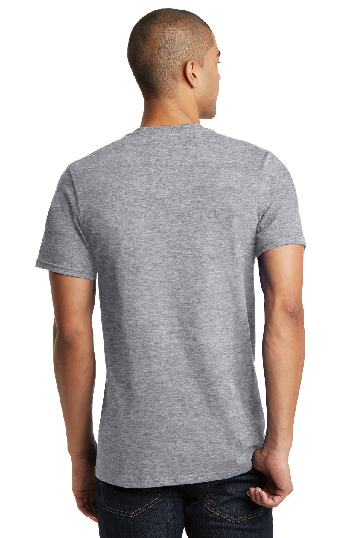 White V Neck T Shirt Mens