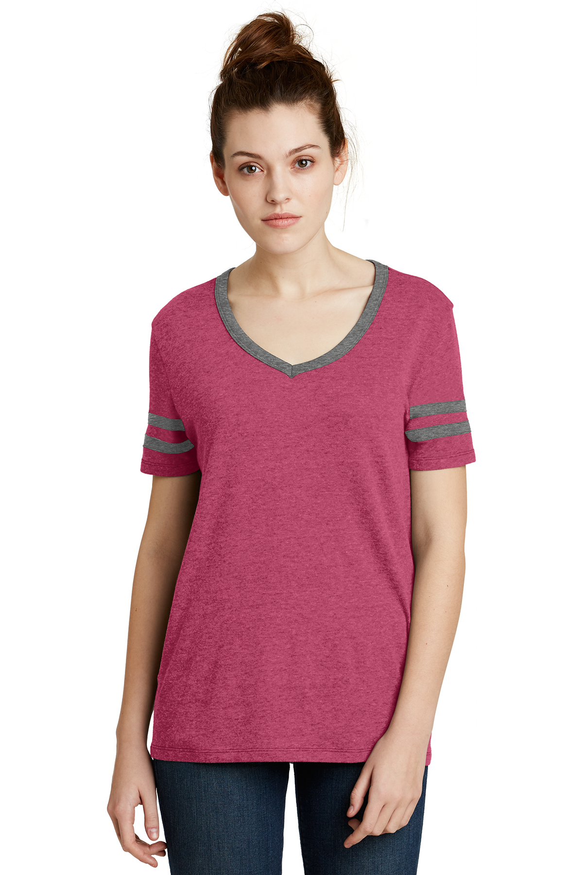 00d741c26 Alternative Women's Varsity Vintage 50/50 Tee   50/50 Blend   T-Shirts ...