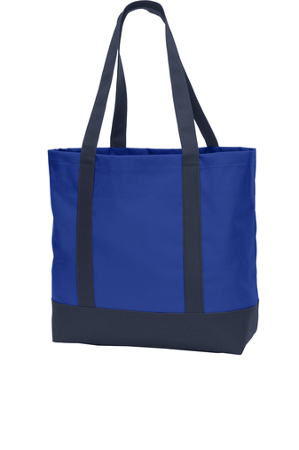 blue promo product tote bag