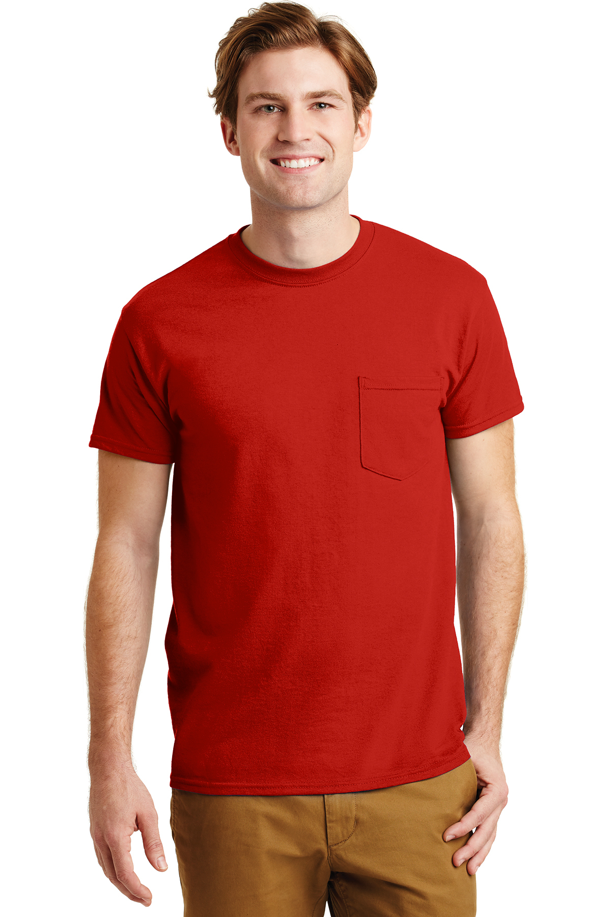 aa11001b Gildan® - DryBlend® 50 Cotton/50 Poly Pocket T-Shirt | 50/50 Blend ...