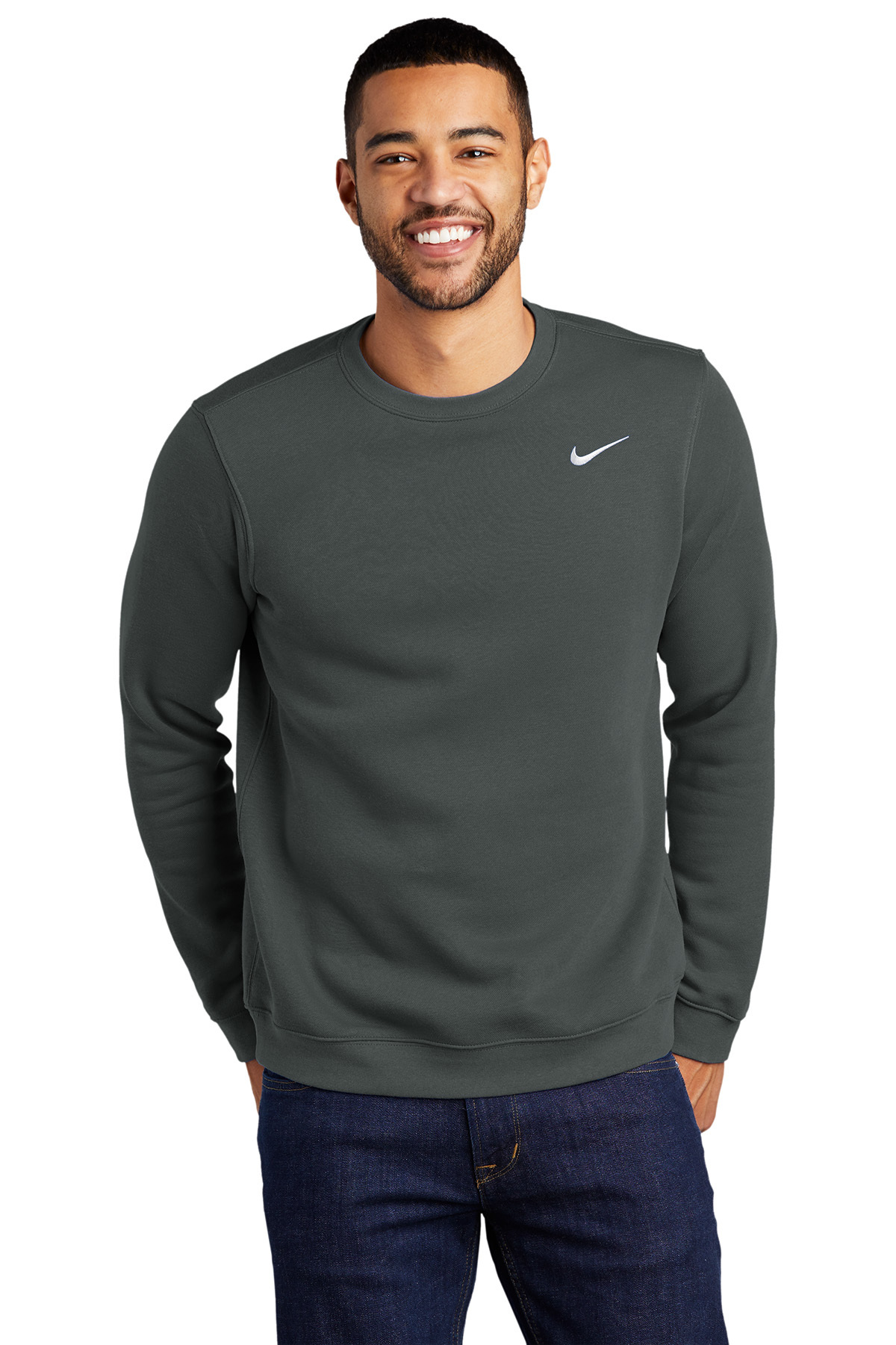 martes ex Respeto a ti mismo  Nike Club Fleece Crew   Crewnecks   Sweatshirts/Fleece   SanMar