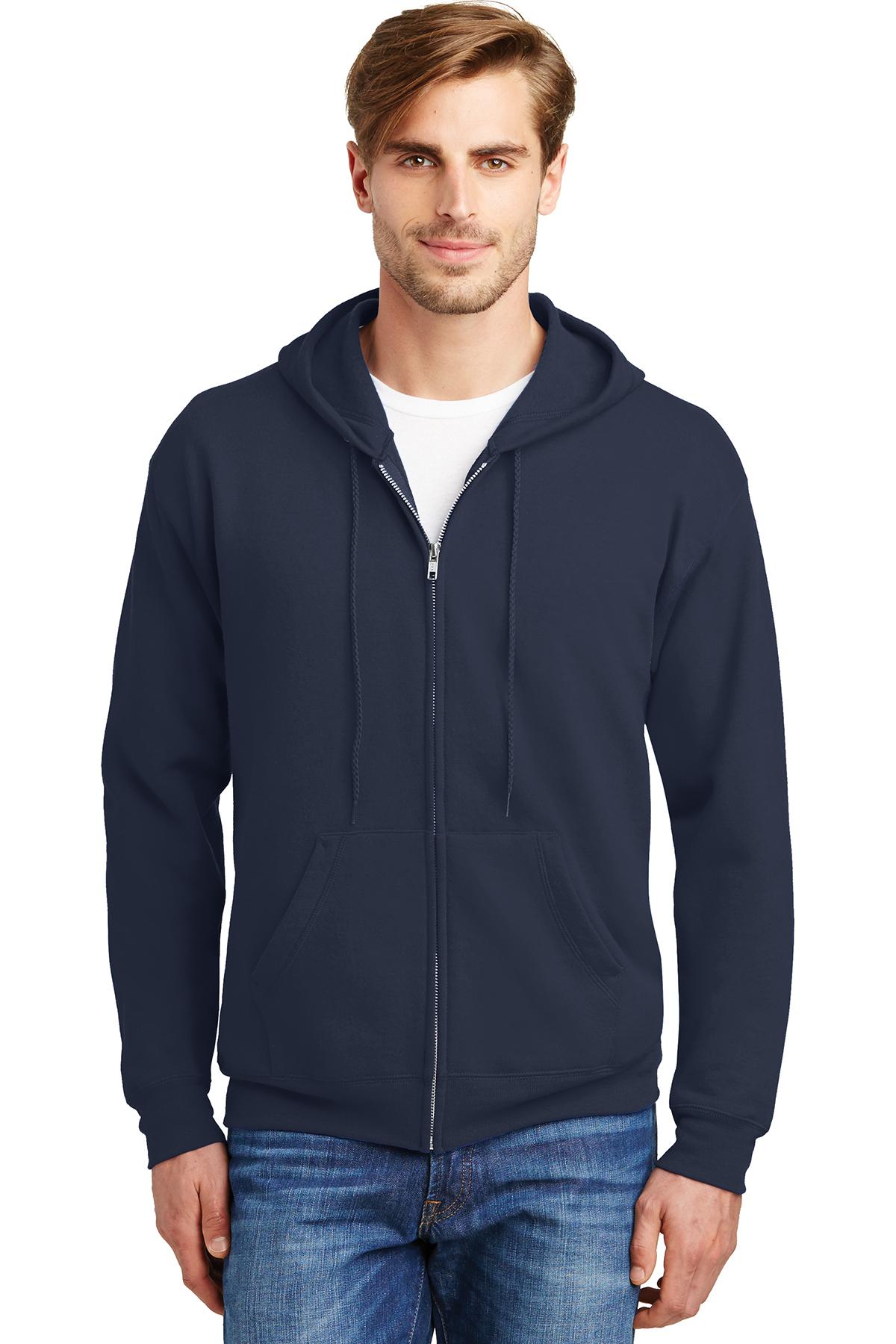 Hanes Ecosmart Full-Zip Hooded Sweatshirt P180