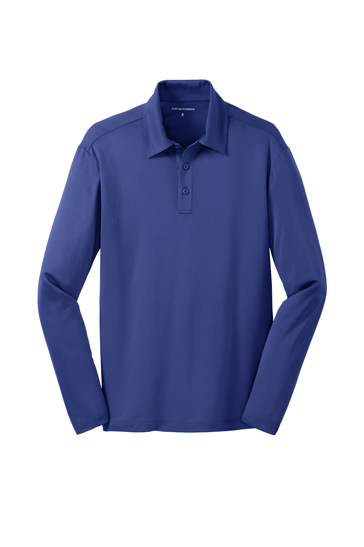 Port Authority® Silk Touch™ Performance Long Sleeve Polo. K540LS Steel Grey L Gkwewns