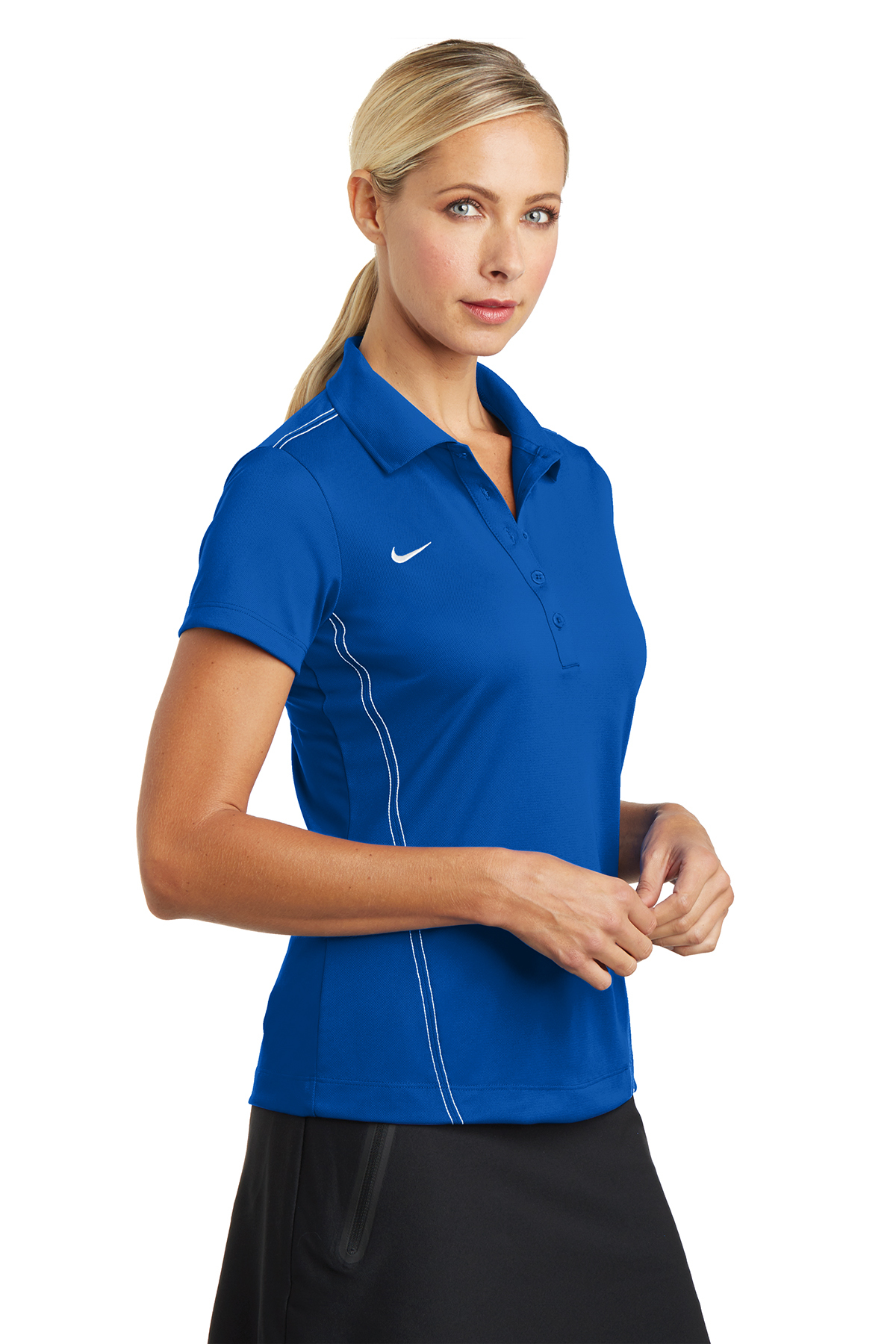 Nike Ladies Dri Fit Sport Swoosh Pique Polo Ladies Women