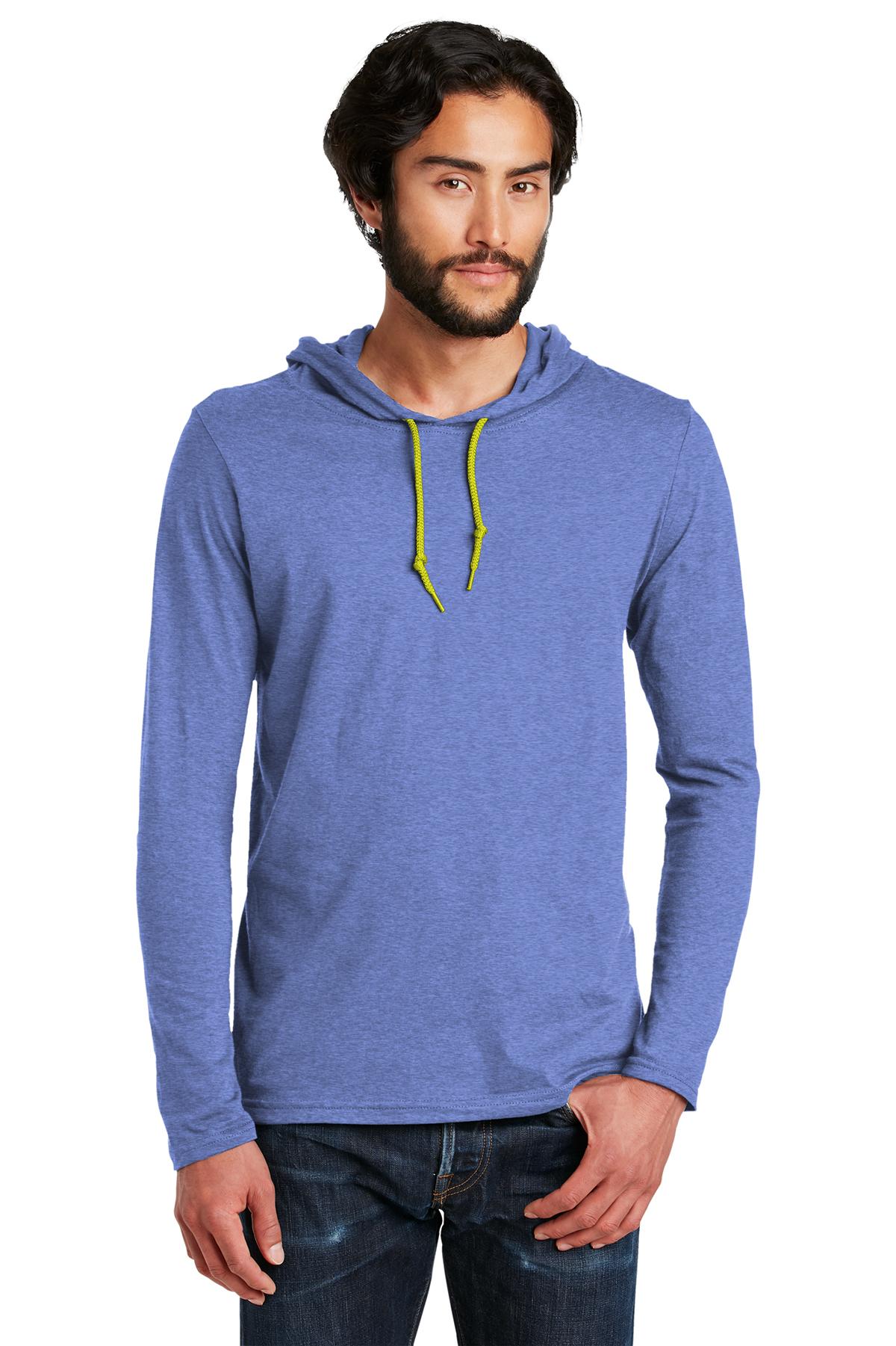 Anvil Homme en coton à manches longues à capuche T-Shirt S-3XL 987-987AN