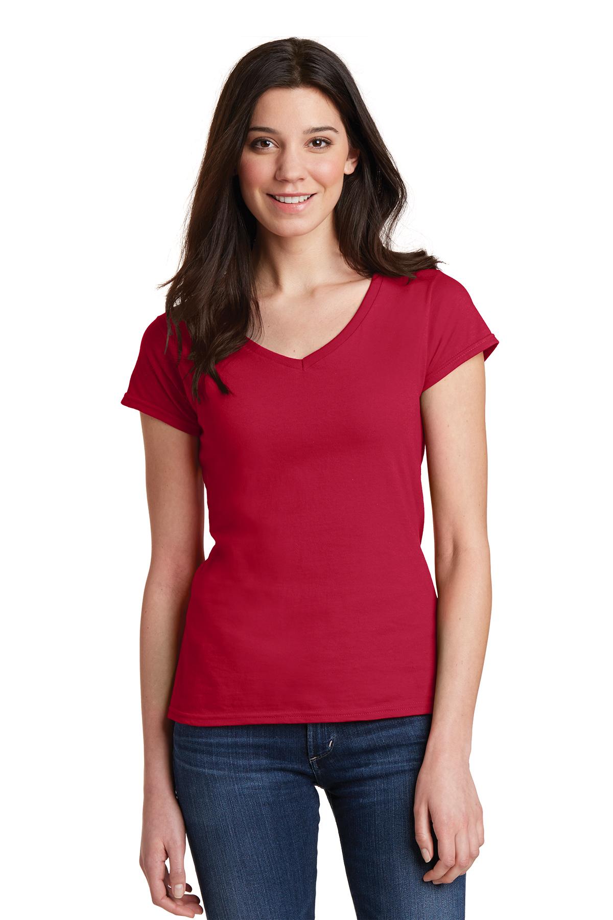 f3431c8b7 Gildan Softstyle® Junior Fit V-Neck T-Shirt | Ring Spun | T-Shirts ...