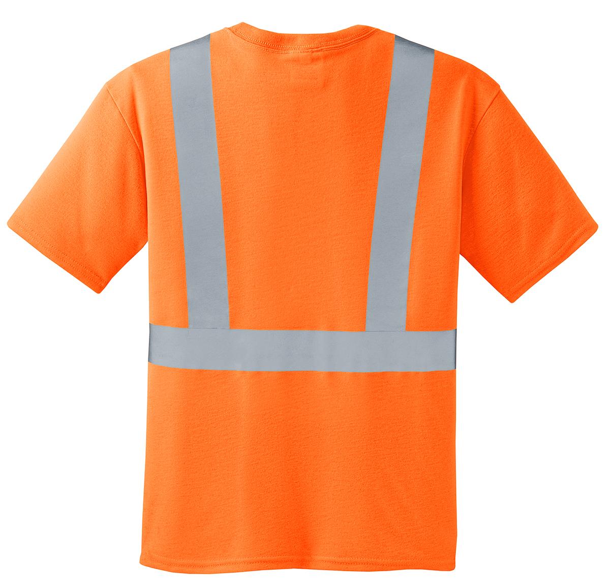 Cornerstone ansi 107 class 2 safety t shirt workwear for Safety logo t shirts