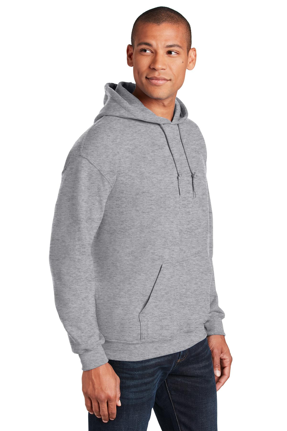 Gildan G18500 Heavy Blend Adult Hooded Sweatshirt L 1 Ash 1 Dark Heather