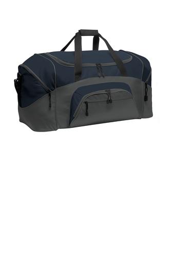 custom navy blue duffel bag