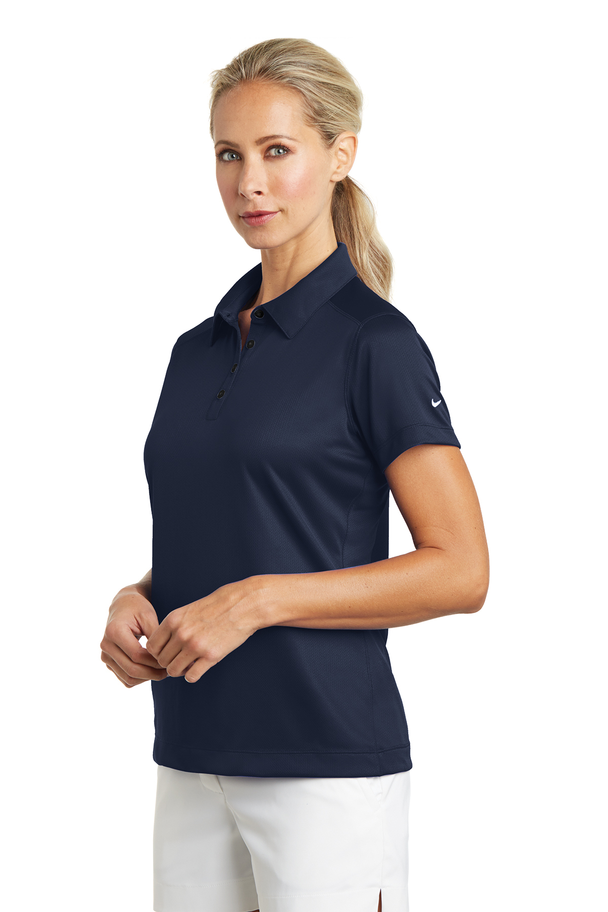 Nike Ladies Dri Fit Pebble Texture Polo Ladieswomen Polosknits