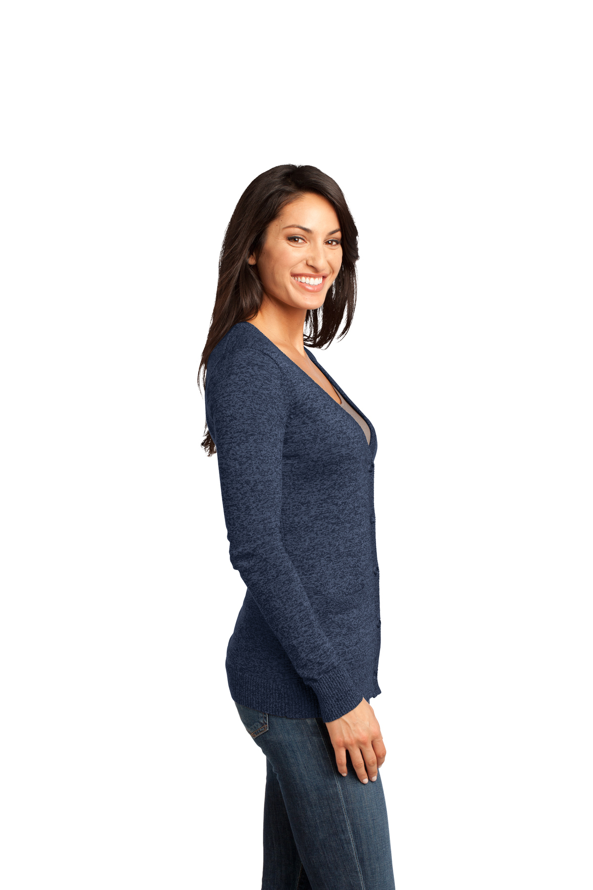 9e7186bbcd District Made® - Ladies Cardigan Sweater