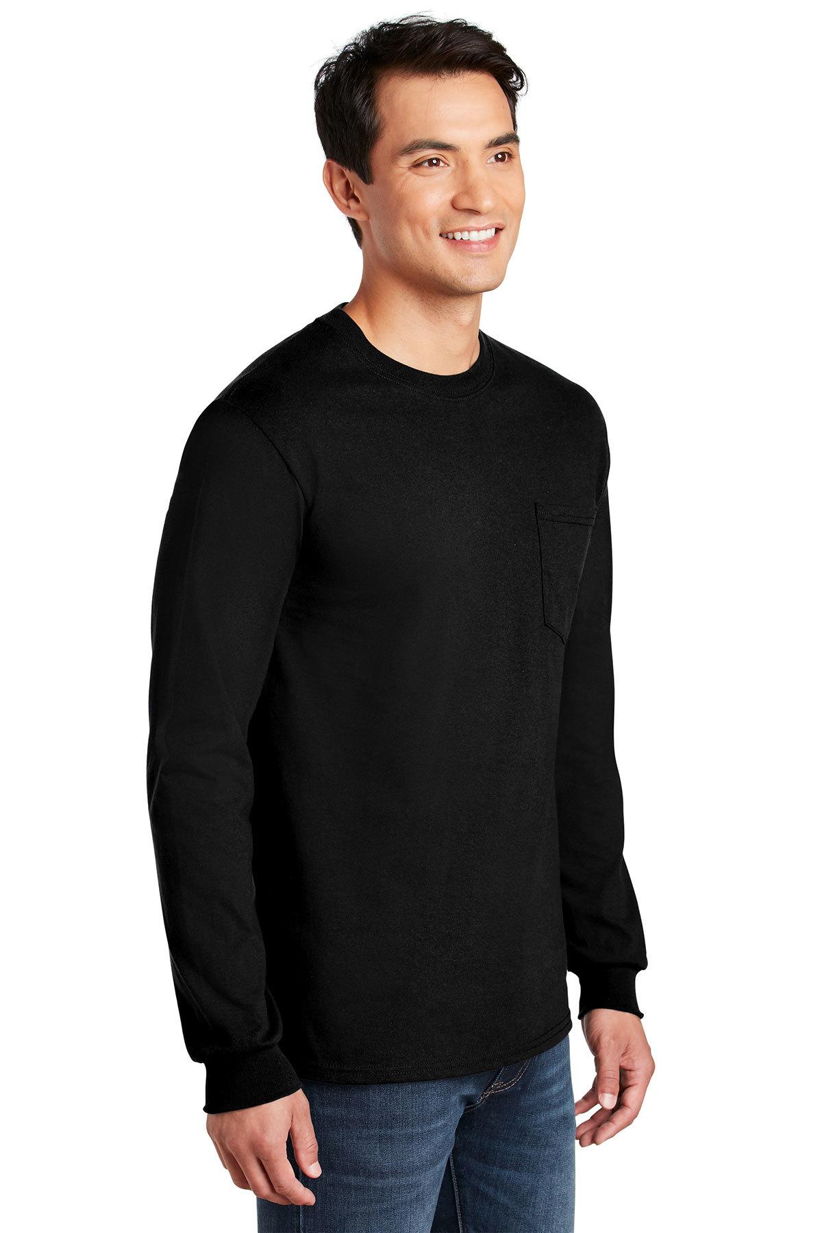 3a3bb5d984e Gildan® - Ultra Cotton® 100% Cotton Long Sleeve T-Shirt with Pocket ...