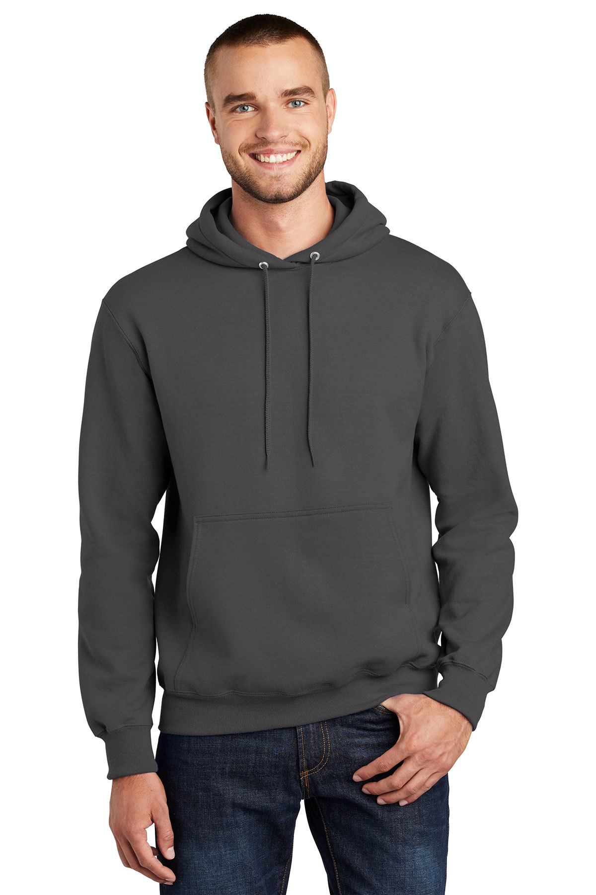 PC90H-Ash Port /& Company-Pullover Hooded Sweatshirt