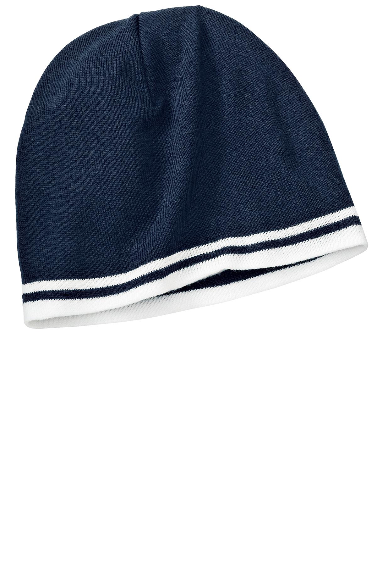 b7afb4723a9 Port   Company® - Fine Knit Skull Cap with Stripes