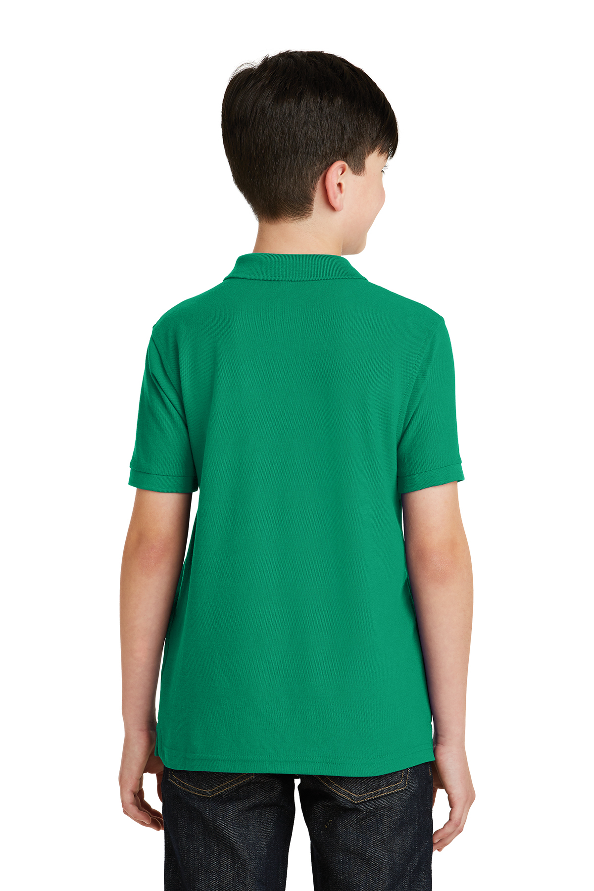 Kelly Green Port Authority Youth Silk Touch Polo-XL