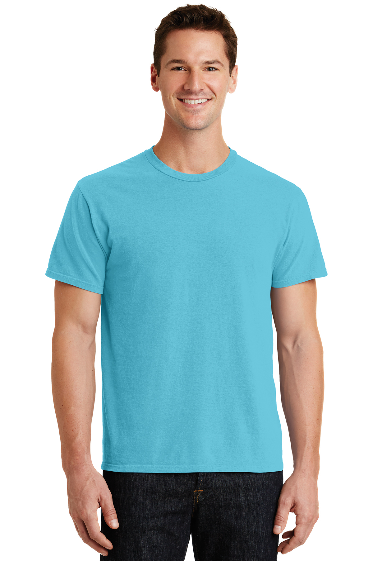 Port /& Company Essential Pigment-Dyed TeeS Taupe PC099