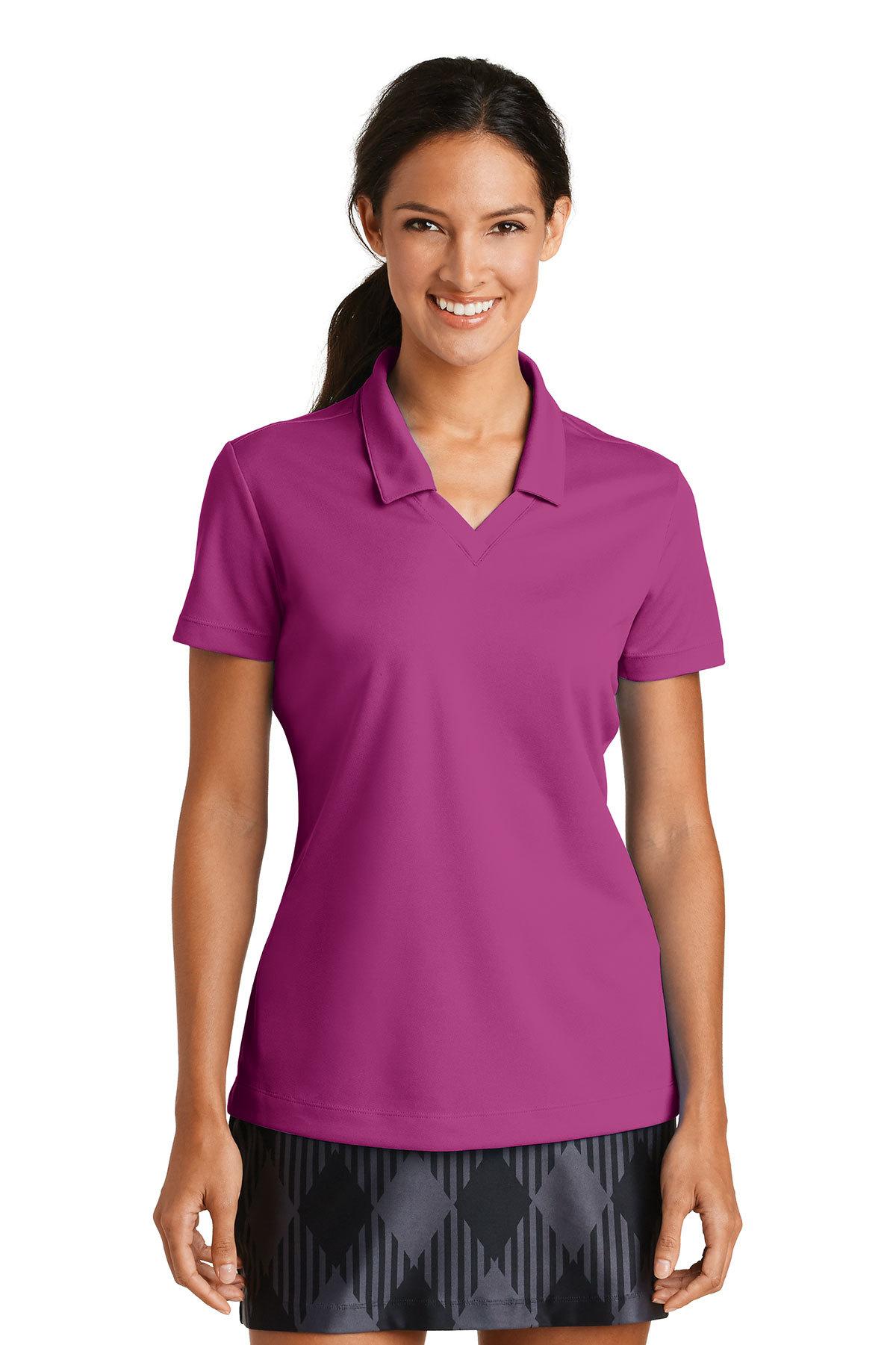 Nike Ladies Dri Fit Micro Pique Polo Ladieswomen Polosknits