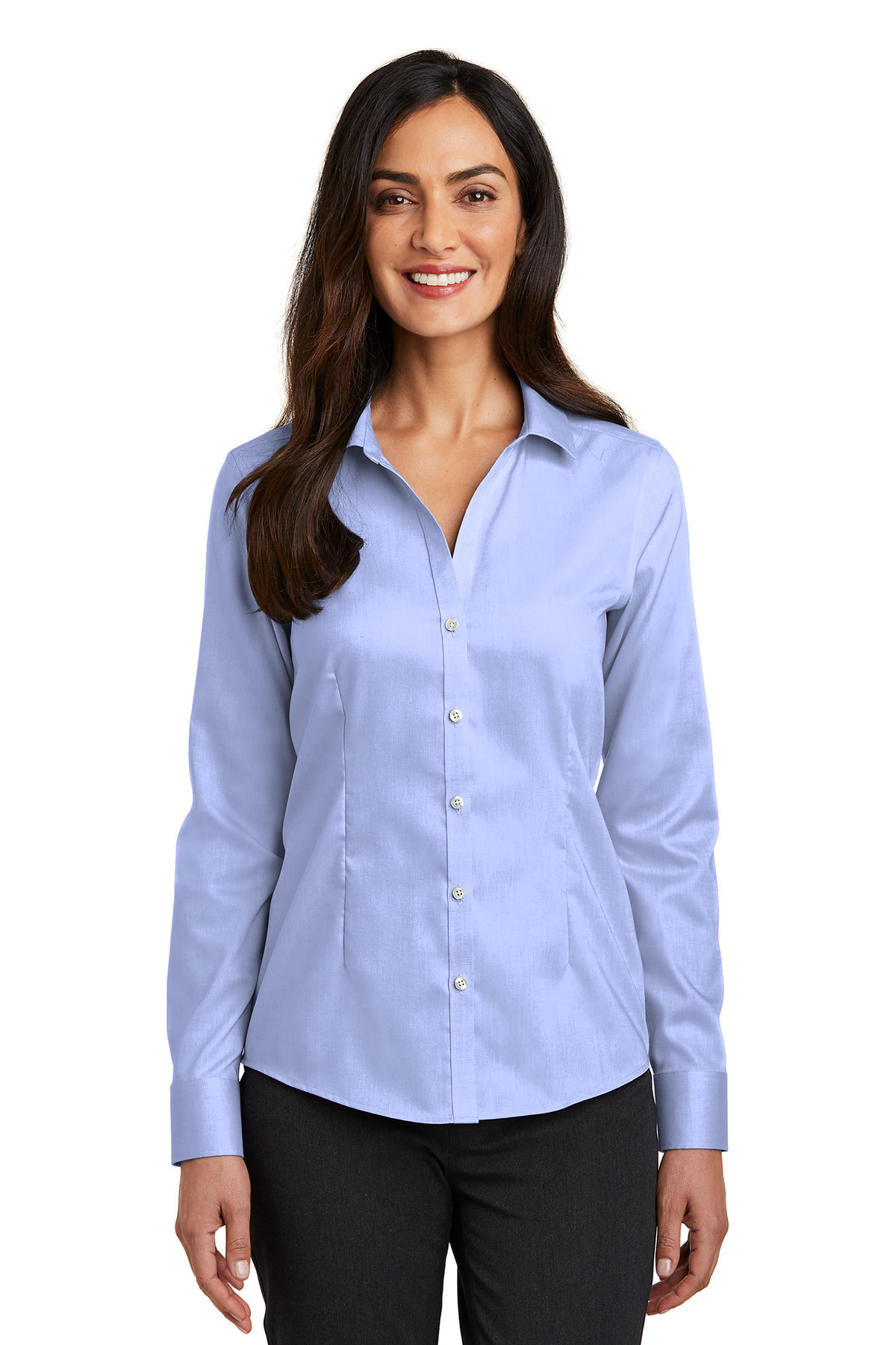 Red House Ladies Pinpoint Oxford Non Iron Shirt Woven Shirts
