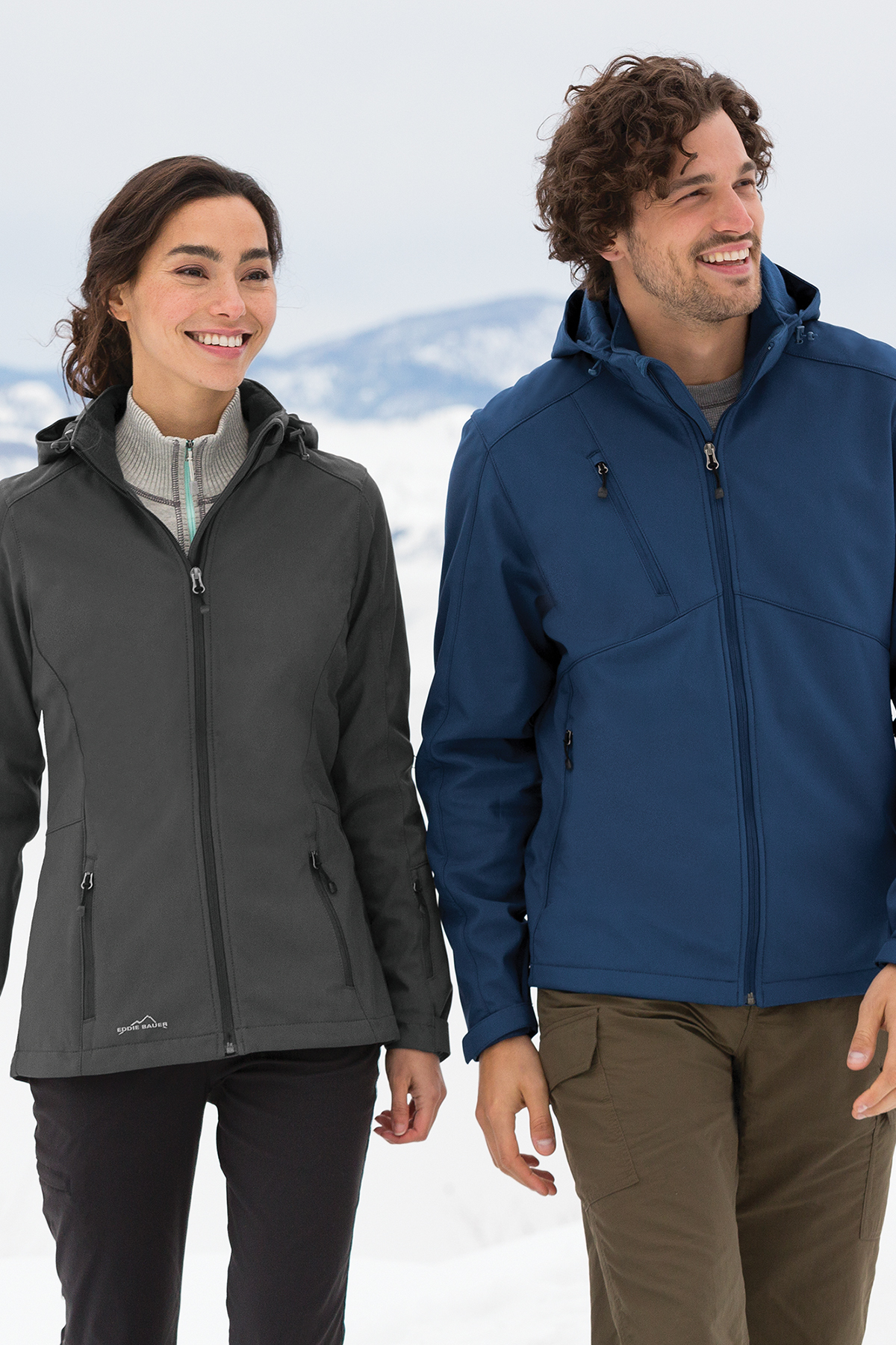 294ae469422 ... Eddie Bauer® Ladies Hooded Soft Shell Parka. A maximum of 8 logos have  been uploaded. Please remove a logo from My Logos to continue