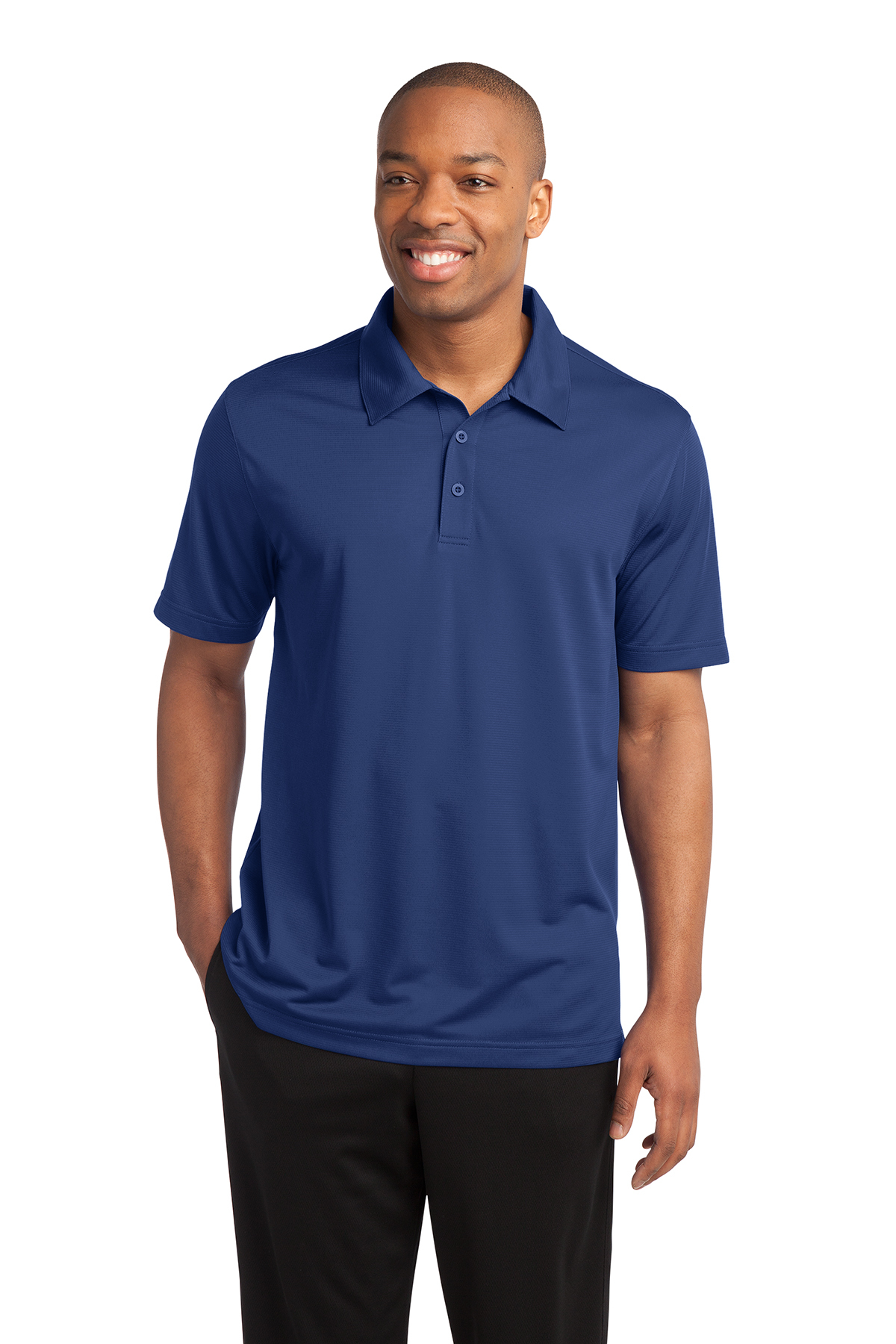 Sport Tek Posicharge Active Textured Polo Performance Polos Knits Sport Tek Embroidered pechauer logo left chest and left sleeve. sport tek posicharge active textured