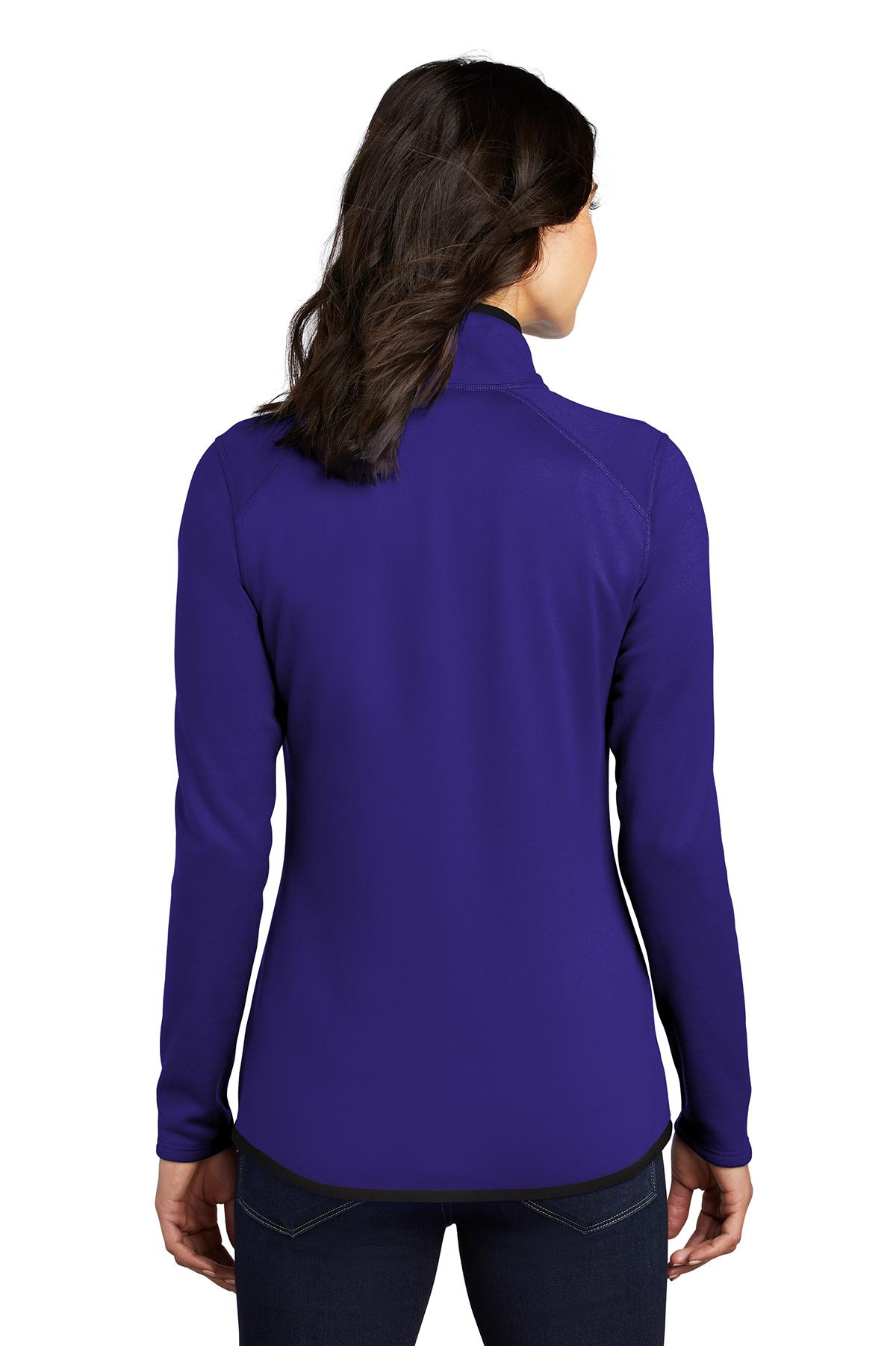 North Bend Nevis Zip Shirt Ladies Fleece Jacket Blue