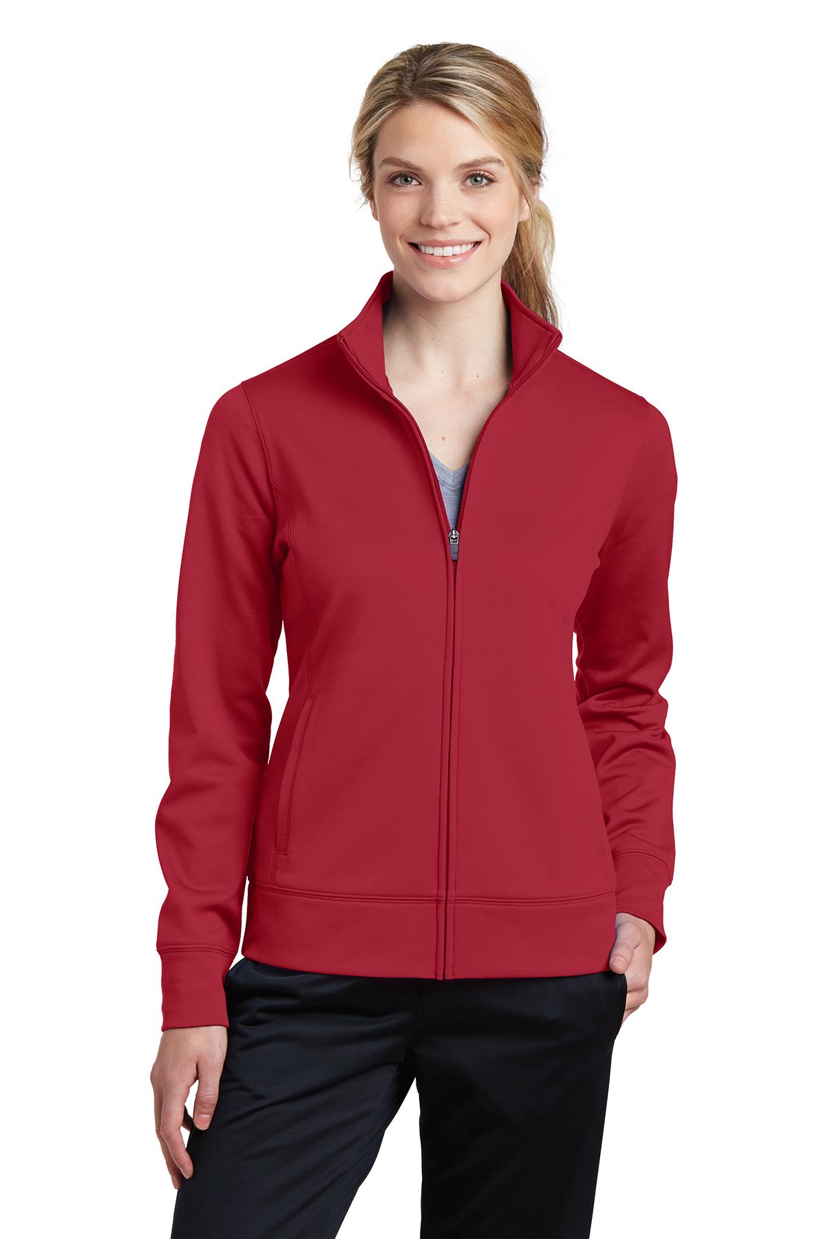 Sport-Tek Womens Sport-Wick Fleece Full-Zip Jacket LST241