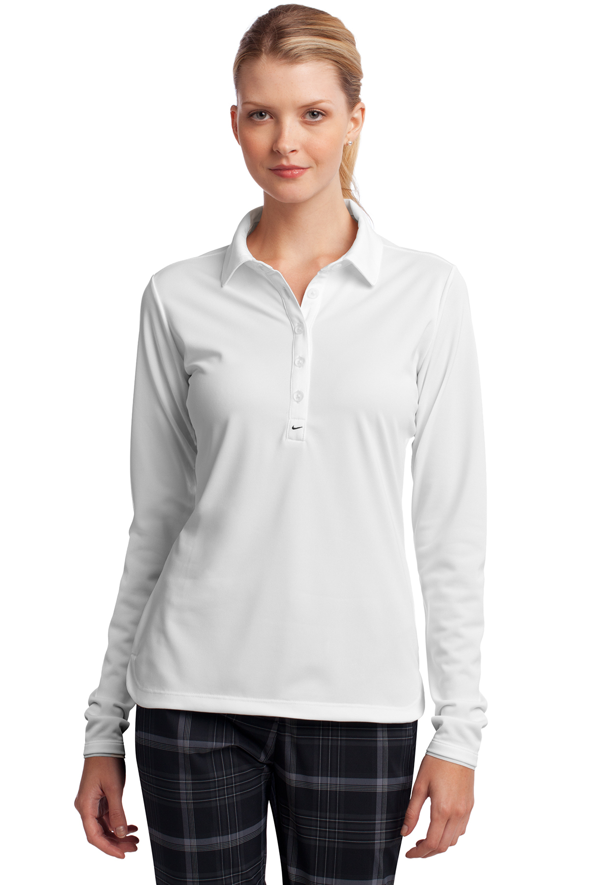 a097e9a045b3 Nike Ladies Long Sleeve Dri-FIT Stretch Tech Polo