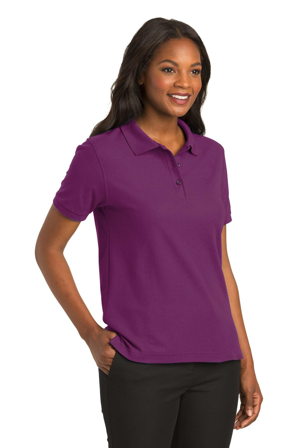 61518e95 Port Authority® Ladies Silk Touch™ Polo