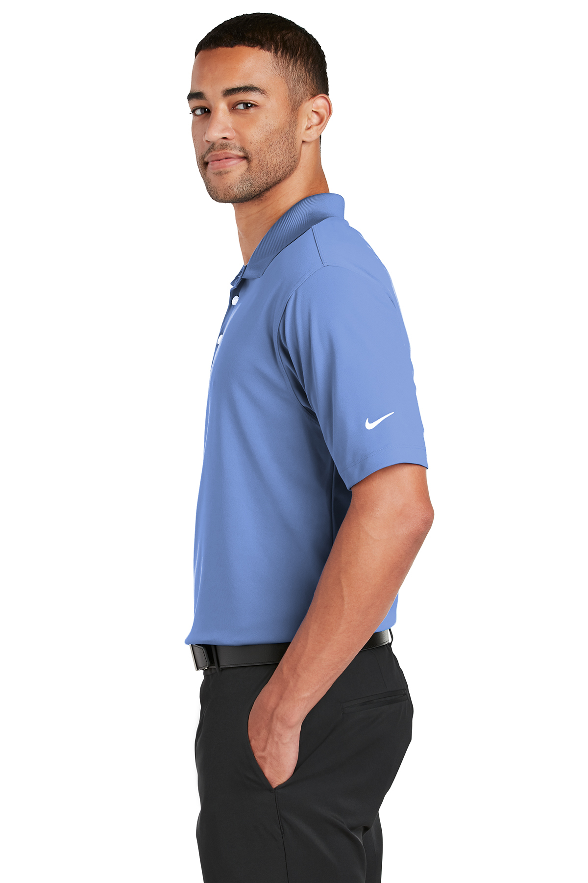 Nike Mens Dri-FIT Short Sleeve Polo Shirt Sky Blue