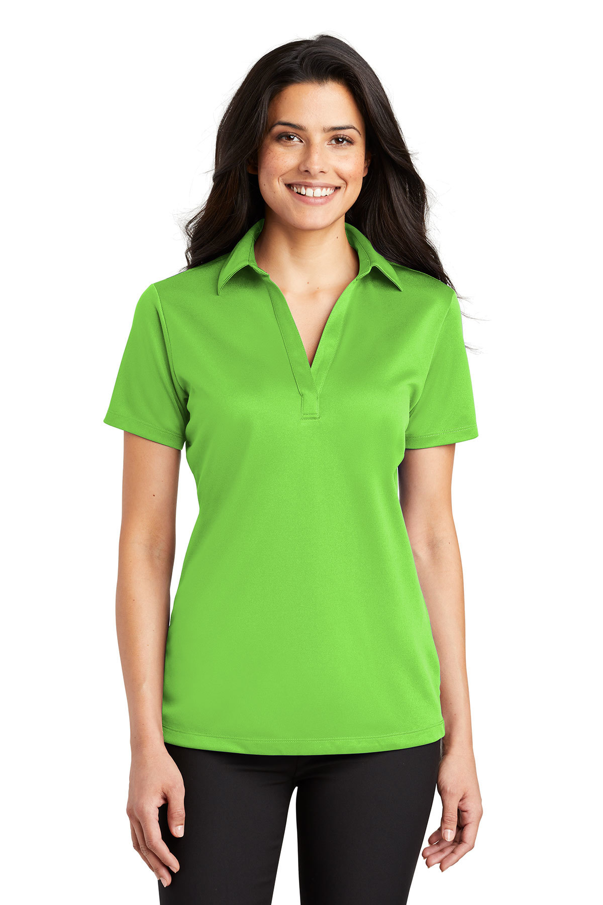 Lime Port Authority Silk Touch Polo