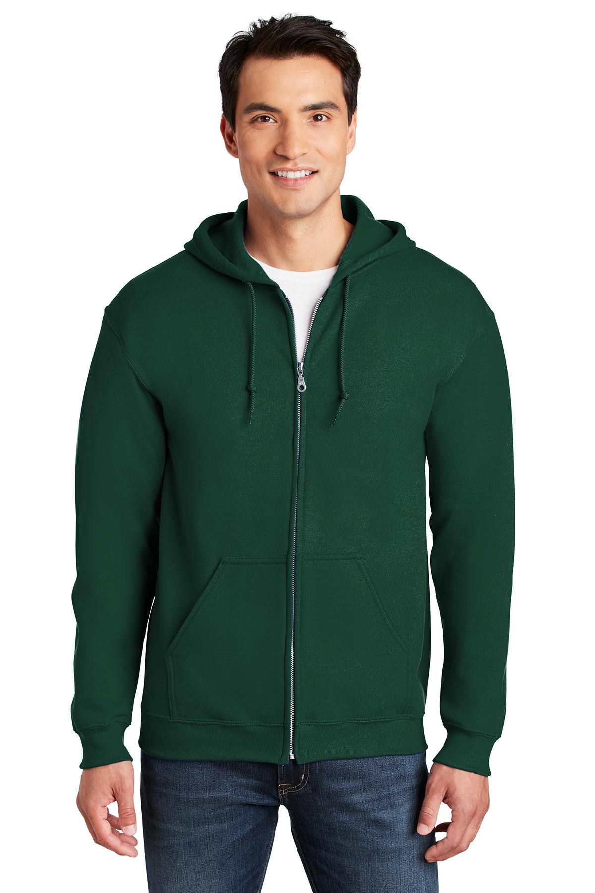 Gildan Heavy Blend Full-Zip Hooded Hoodie Sweatshirt Sizes S-5XL 18600