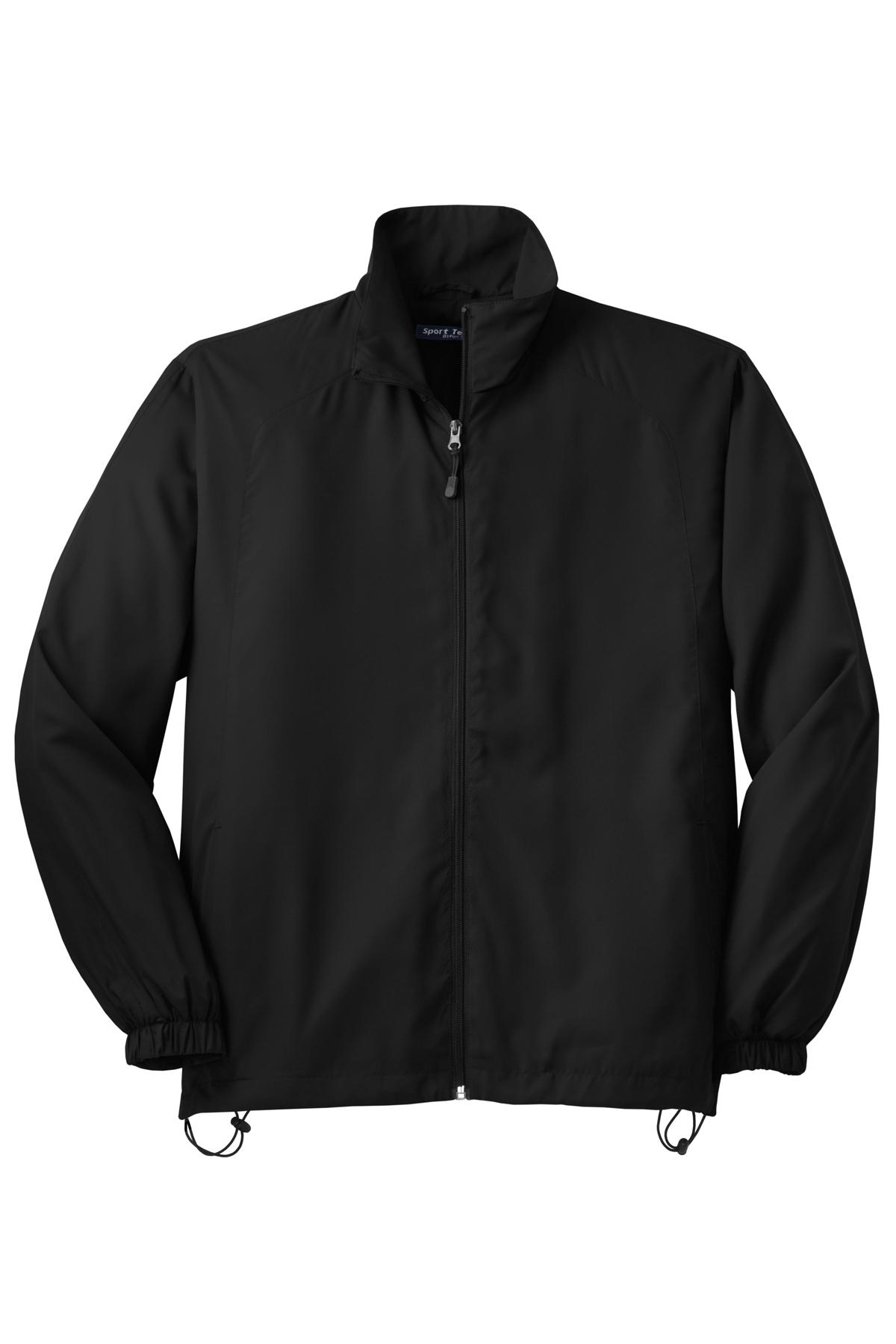 4XL Black Tek Sport JST70 Full-Zip Wind Jacket