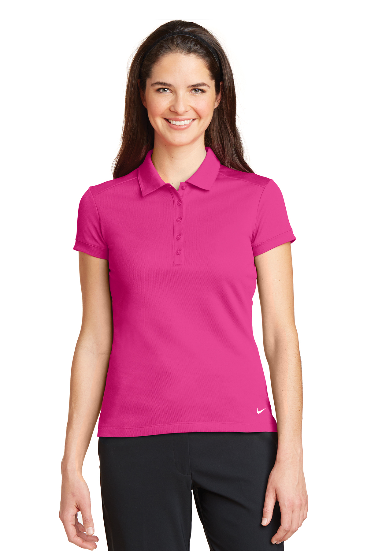 Nike Ladies Dri-FIT Solid Icon Pique Modern Fit Polo ...
