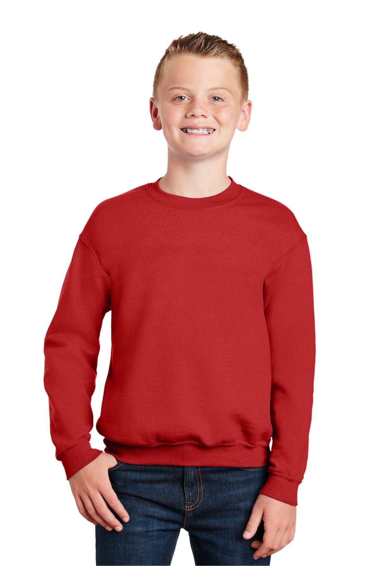Gildan Heavy Blend youth crew neck sweatshirt Black M