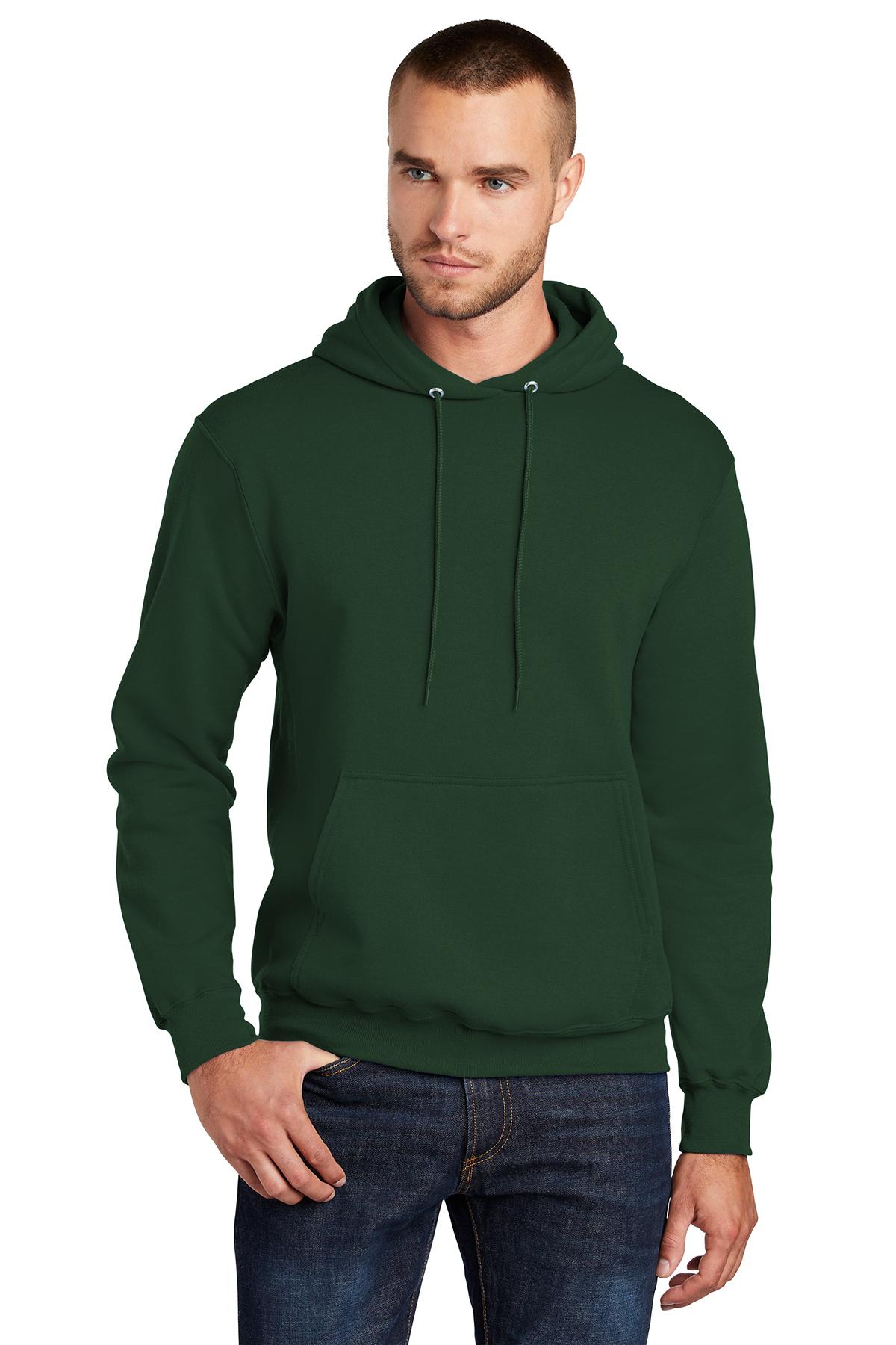 Port /& Company Core Fleece Pullover Hooded Sweatshirt PC78H Heather Dark Chocolate Brown 4XL