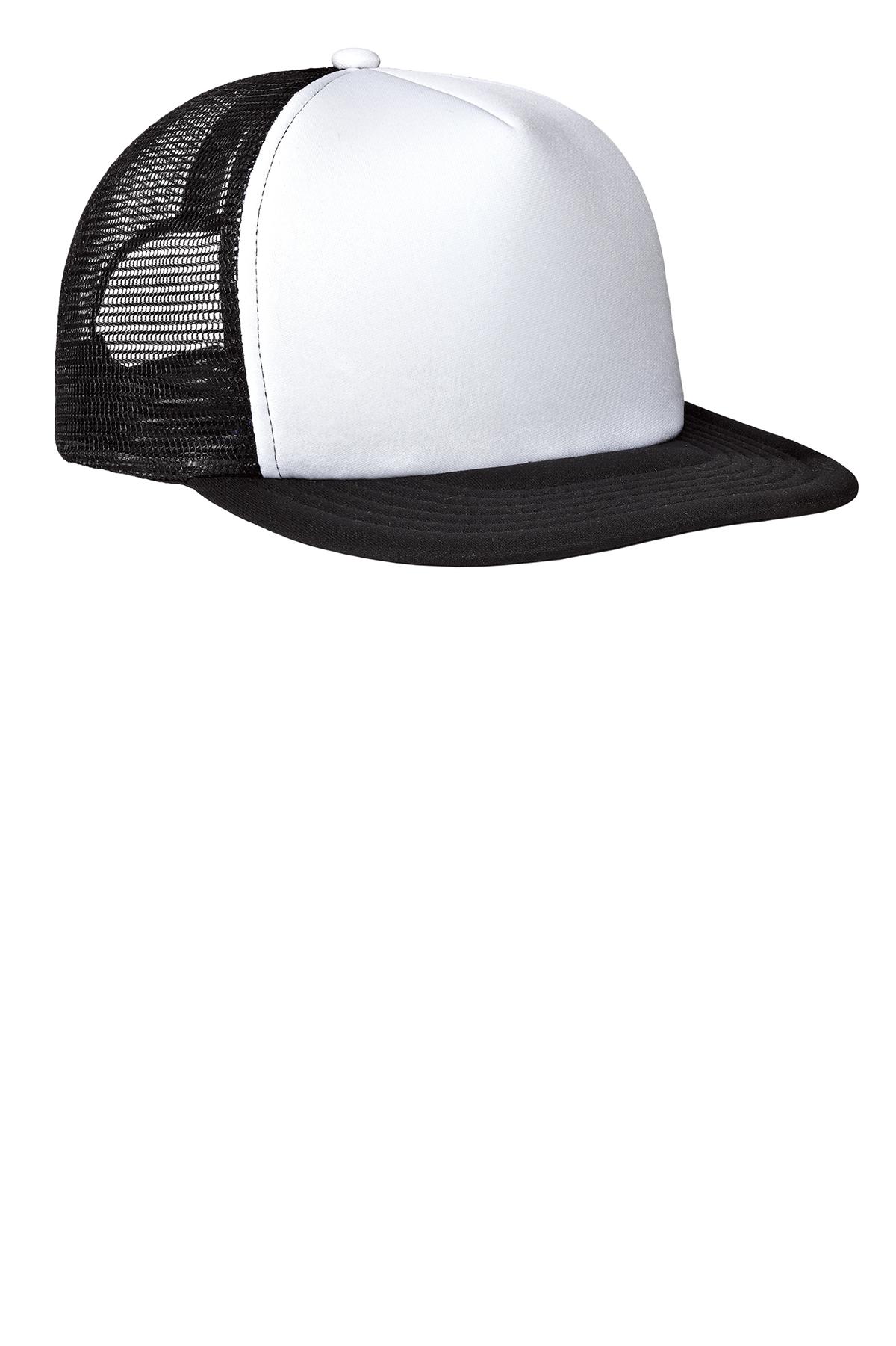 b87085964385d1 District ® Flat Bill Snapback Trucker Cap | District | Brands | SanMar