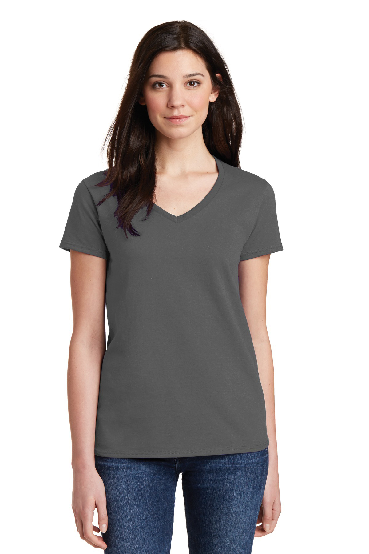 fe6ce49337 Gildan® Ladies Heavy Cotton™ 100% Cotton V-Neck T-Shirt. Brand Logo