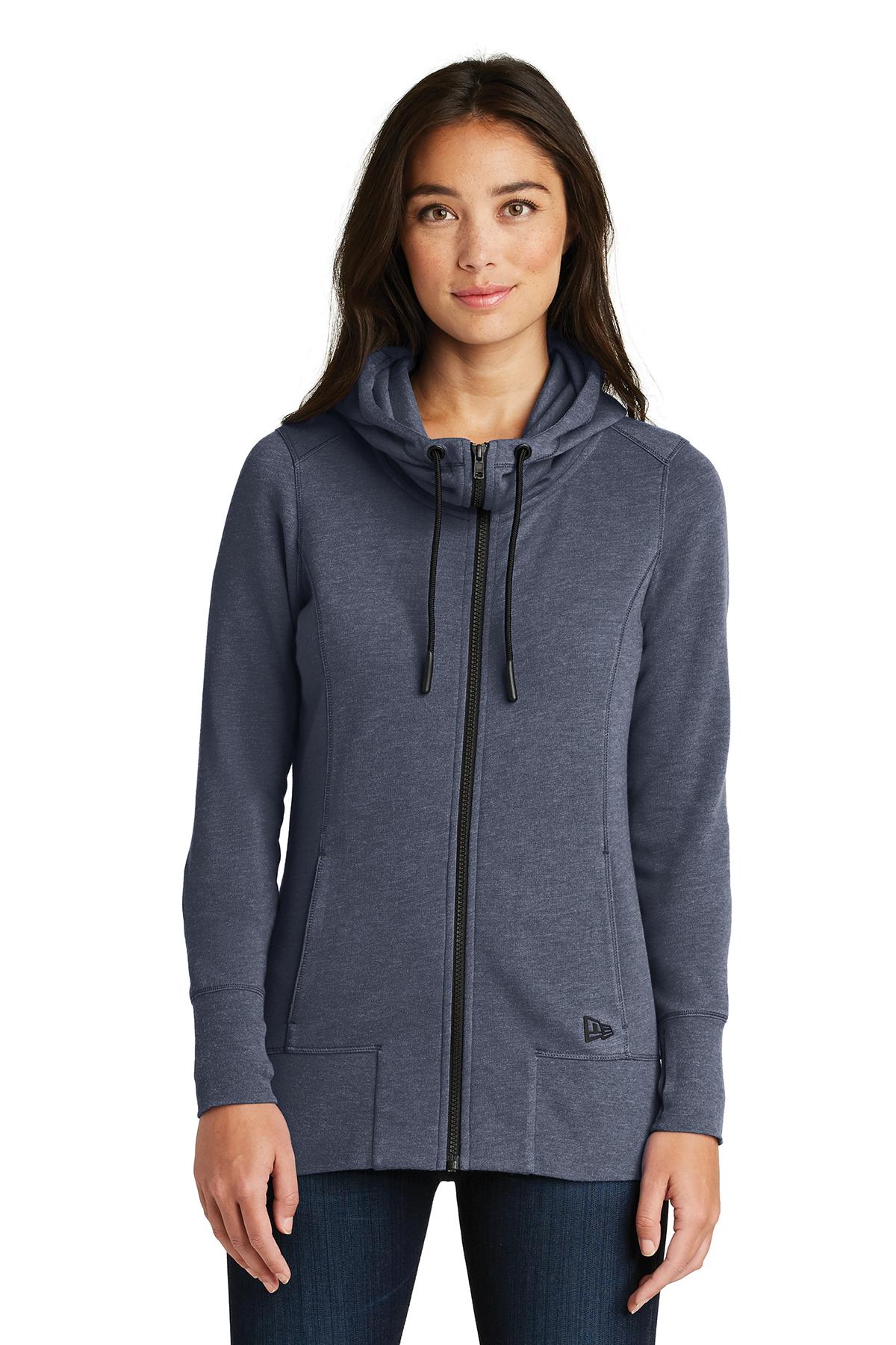 53865c84711 New Era® Ladies Tri-Blend Fleece Full-Zip Hoodie