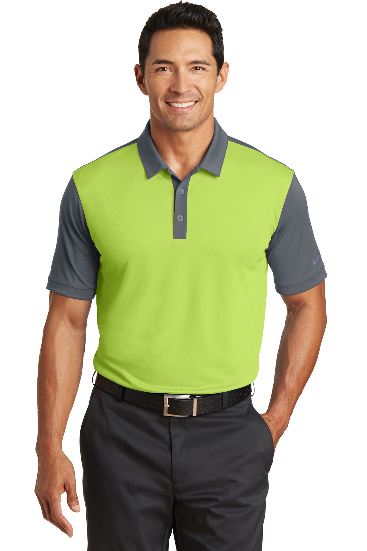 Nike Dri Fit Colorblock Icon Modern Fit Polo Performance Polos