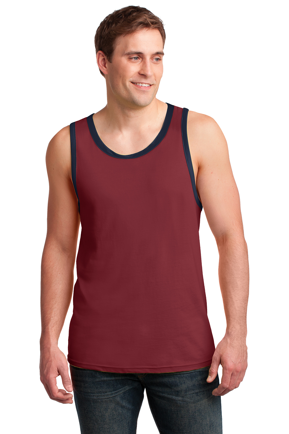 76a450fe8cc13 Anvil® 100% Combed Ring Spun Cotton Tank Top