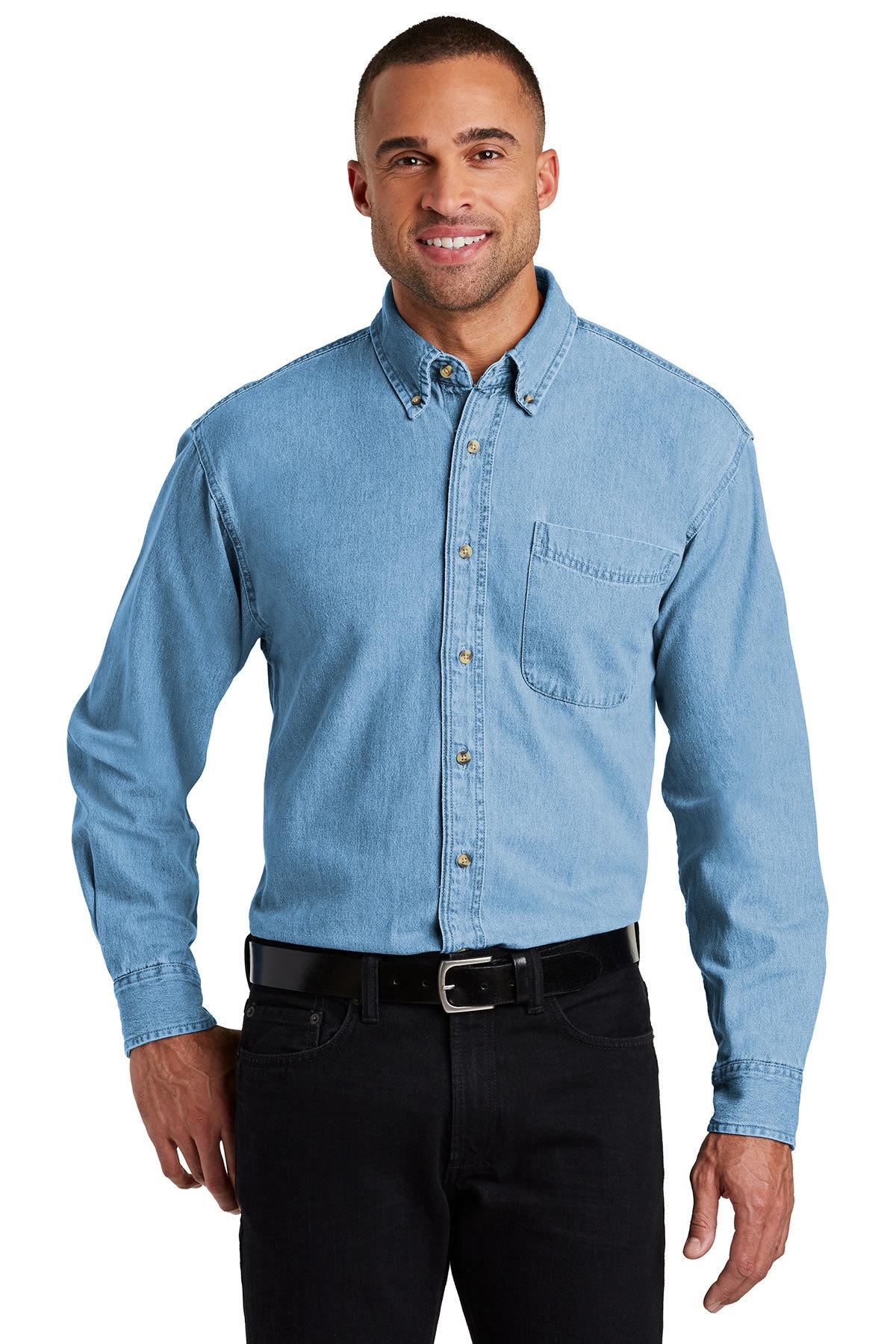 a8cad25b6f2 Port Authority® Long Sleeve Denim Shirt